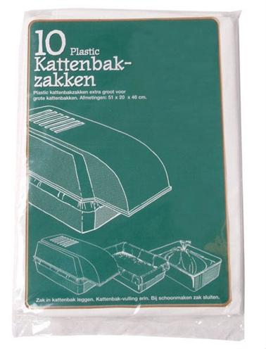 Kattenbakzak 10 stuks in een zakje.afmetingen: 51 x 20 x 46 cm.