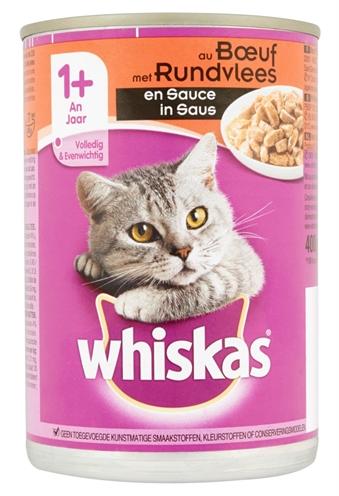 Whiskas Blik Adult Rund In Saus 12x400 Gr