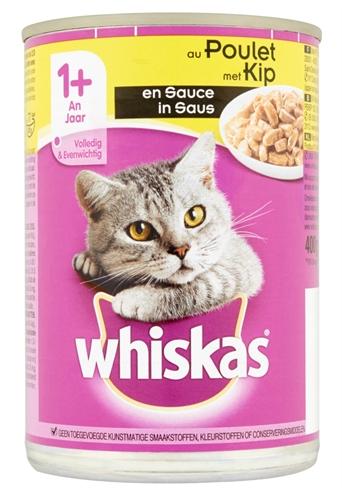 Whiskas Blik Adult Brokjes In Saus Kip 12x400 Gr