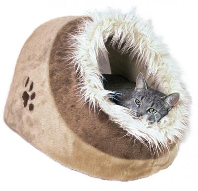 Trixie kattenmand iglo minou beige / bruin