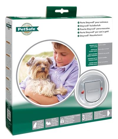 Transparant kattenluik voor grote katten en/of kleine honden. het kattenluik kan op 4 manieren gebruikt ...
